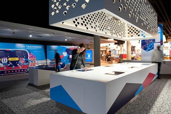 Erasmus Experience Bibliotheek Rotterdam interieurbouw Kloosterboer